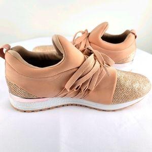 Qupid Rose Gold Sneaker